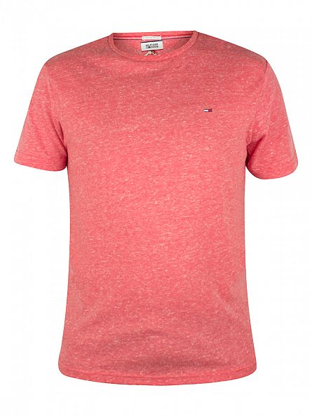 Tommy Hilfiger Denim Formula One Pink Original Melange Logo T-Shirt