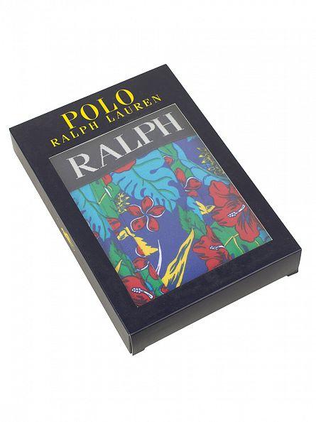 Polo Ralph Lauren New Sapphire Beach Shop Classic Pouch Stretch Cotton Floral Trunk