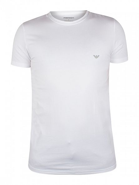 Emporio Armani White Crew Neck Logo T-Shirt