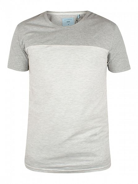 Minimum Glacier Grey Mel Folant Panel T-Shirt