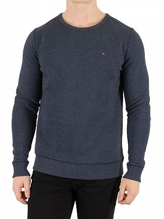 Tommy Hilfiger Denim Black Iris Navy Original Logo Sweatshirt