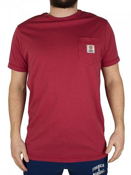 Franklin & Marshall Earth Red Logo Pocket T-Shirt