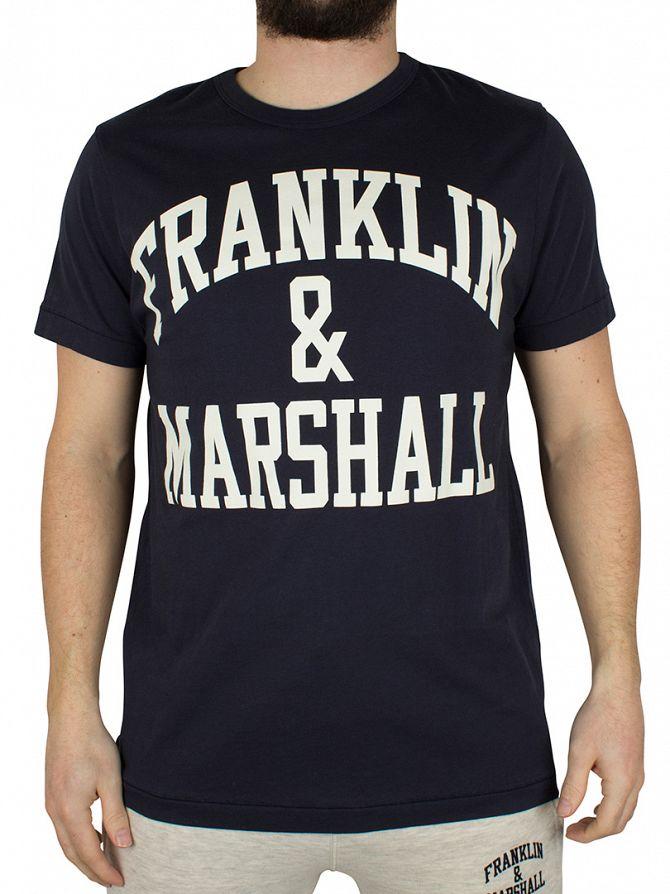 Franklin & Marshall Navy Arch Logo Graphic T-Shirt