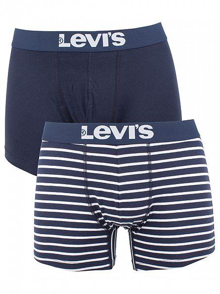 Levi's Ensign Blue 2 Pack 200SF Striped Cotton Stretch Boxer Briefs