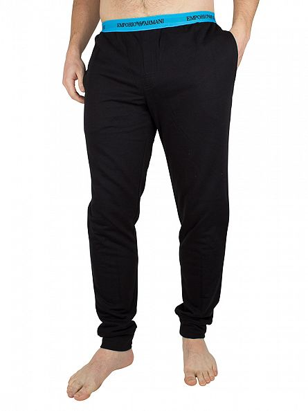 Emporio Armani Black Logo Waistband Bottoms