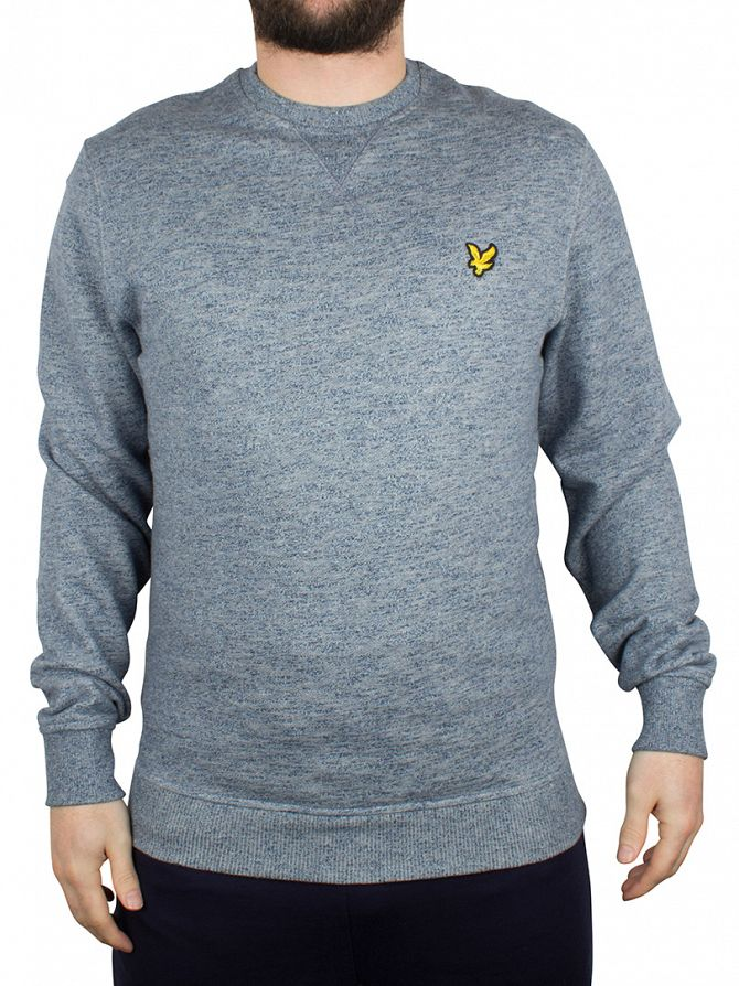 Lyle & Scott Navy Marl Marled Logo Sweatshirt