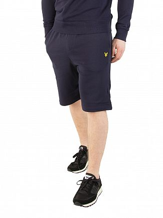 Lyle & Scott Navy Logo Sweat Shorts