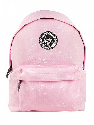 Hype Baby Pink/White Badge Backpack