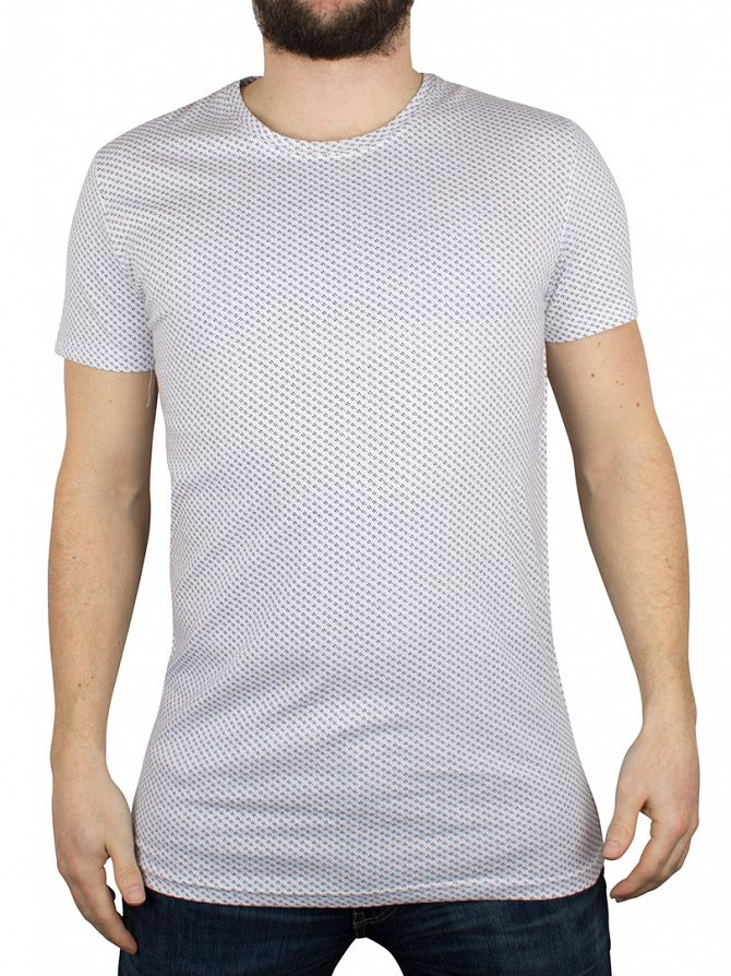 Minimum White Ovington All Over Pattern T-Shirt