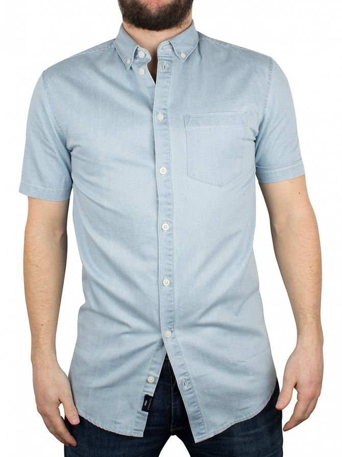Minimum Light Blue Jon Shortsleeved Denim Shirt