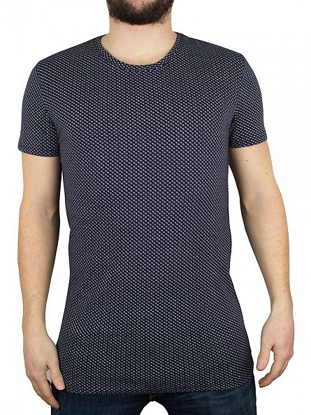 Minimum Navy Blazer Ovington All Over Pattern T-Shirt