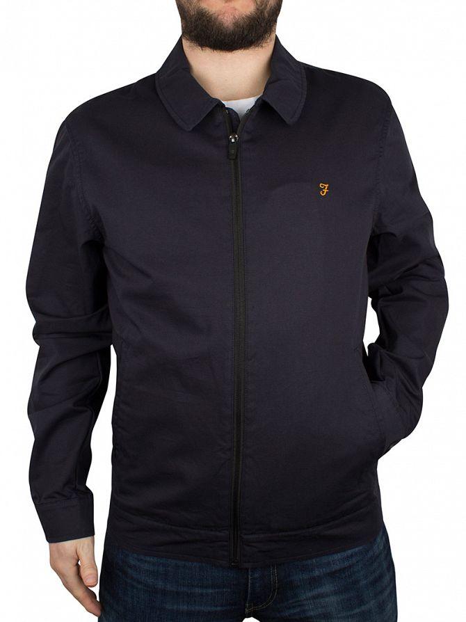 Farah Vintage True Navy Swinsty Zip Jacket