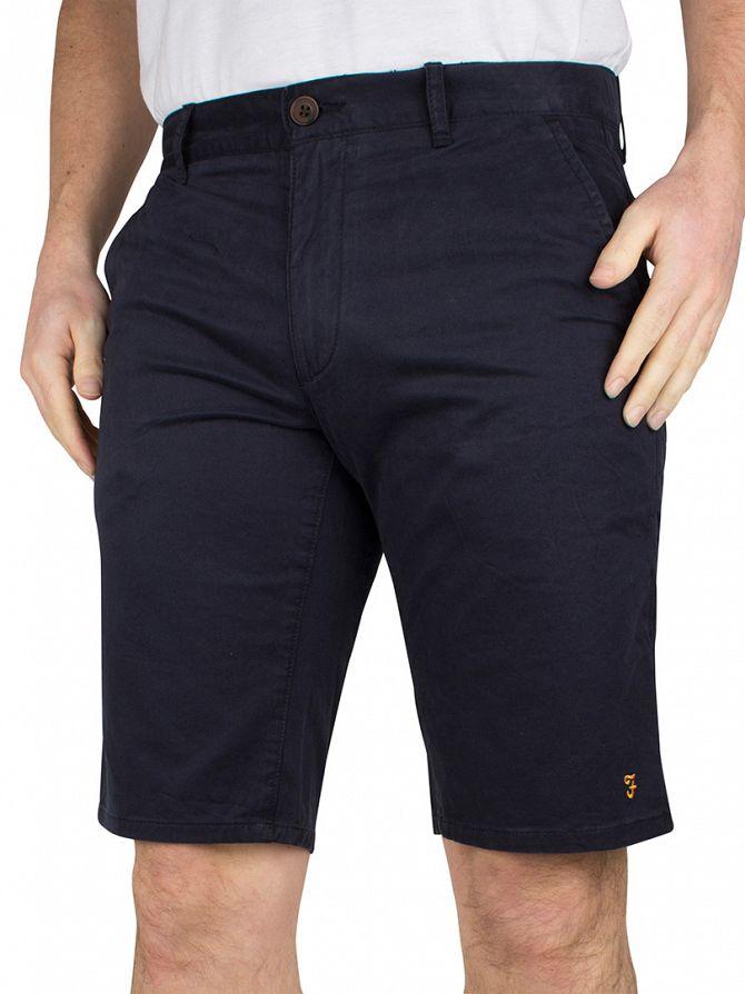 Farah Vintage True Navy Hawking Logo Chino Shorts