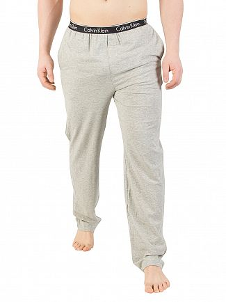 Calvin Klein Grey Heather Logo Waistband Pyjama Bottoms