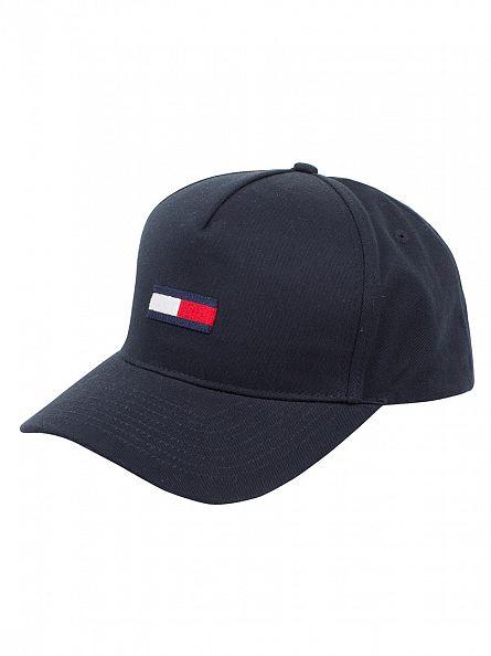 Hilfiger Denim Navy Blazer Logo Flag Cap