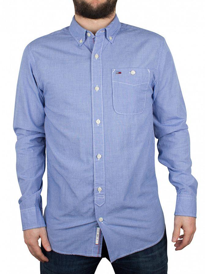 Hilfiger Denim Sodalite Blue Basic Y/D Small Checked Shirt