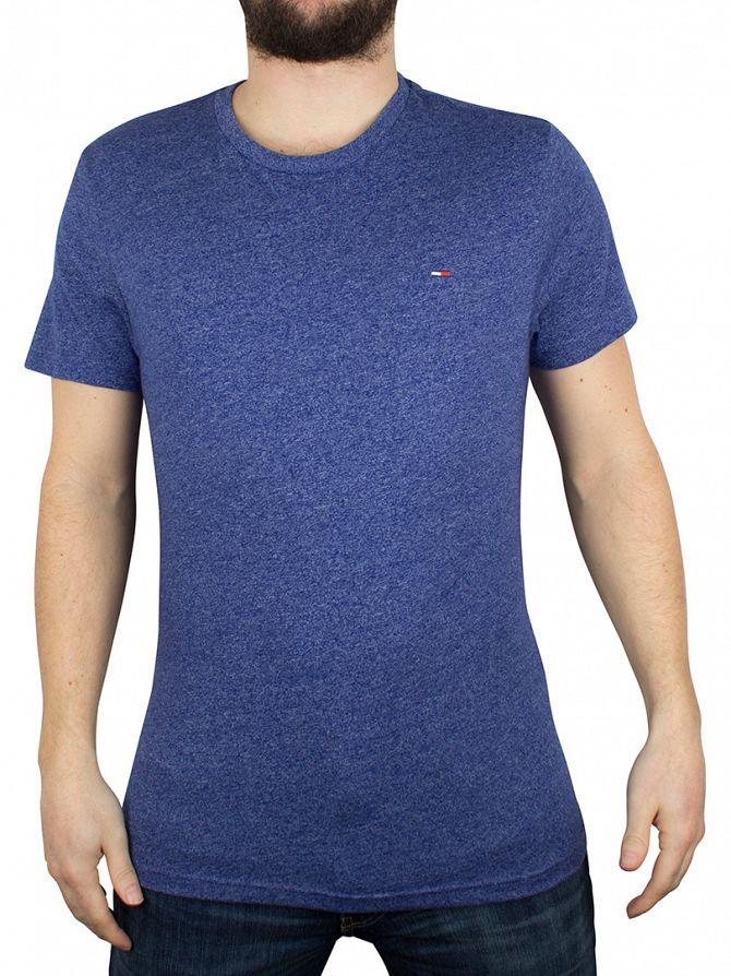 Hilfiger Denim Sodalite Blue Basic Jaspe Marled Logo T-Shirt
