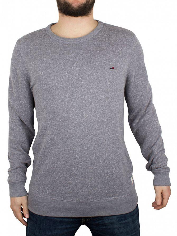 Hilfiger Denim Navy Blazer Basic Heather Logo Sweatshirt