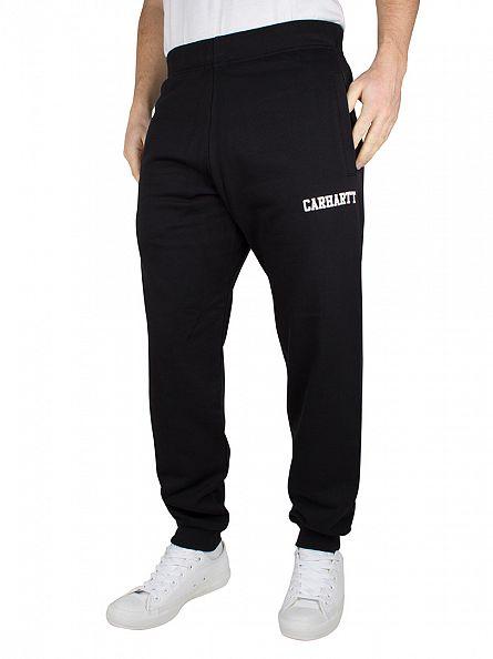 Carhartt WIP Black/White College Logo Sweat Joggers