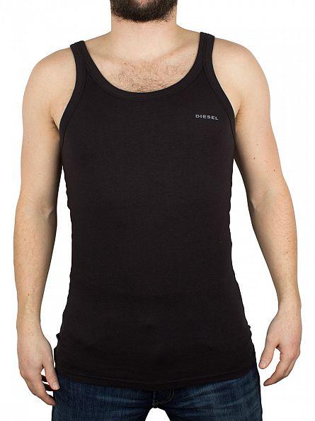 Diesel Black Bale Plain Logo Vest