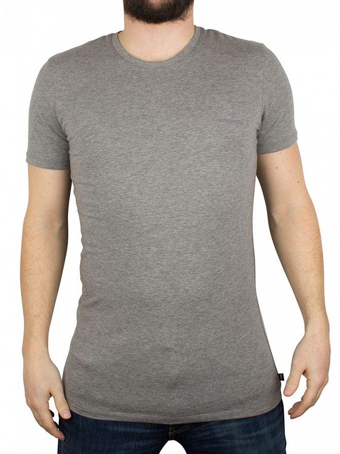 Diesel Grey Marl Randal Plain Logo T-Shirt