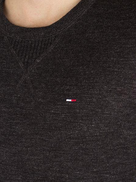 Hilfiger Denim Tommy Black Original Logo Knit