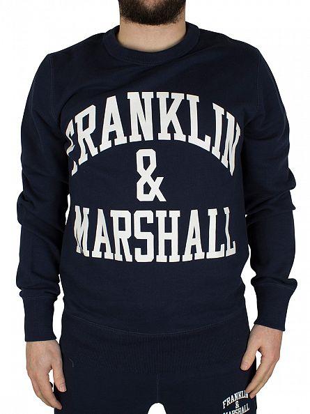 Franklin & Marshall Navy Arch Logo Sweatshirt Tracksuit