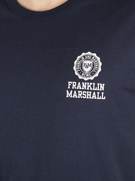Franklin & Marshall Navy Left Chest Logo T-Shirt