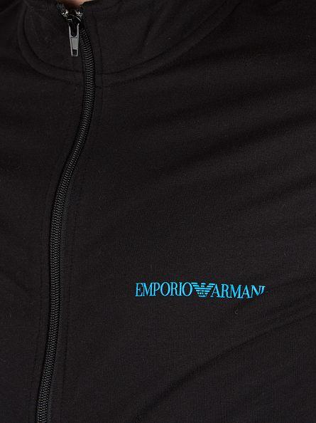 Emporio Armani Black Logo Zip Top