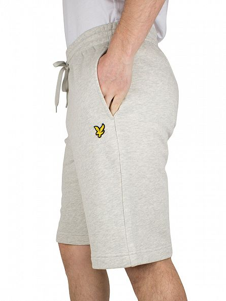Lyle & Scott Light Grey Marl Logo Sweat Shorts
