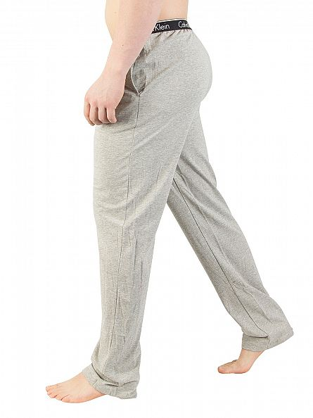 Calvin Klein Grey Heather Logo Waistband Pyjama Bottoms