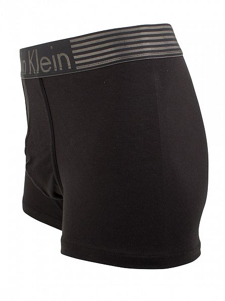 Calvin Klein Black Iron Strength Cotton Logo Trunks