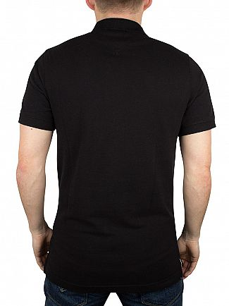 Tommy Hilfiger Denim Tommy Black Original Flag Logo Polo Shirt