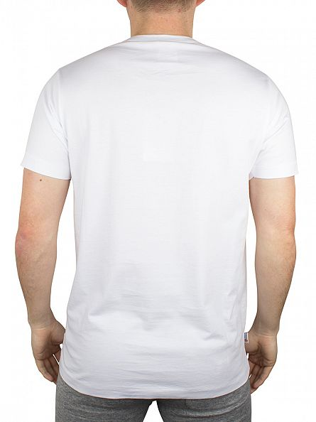 Franklin & Marshall White Left Chest Logo T-Shirt