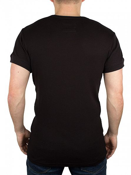 Levi's Jet Black 300 LS Cotton Rib Grandad T-Shirt
