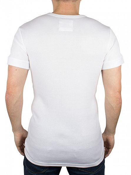 Levi's White 300 LS Cotton Rib Grandad T-Shirt