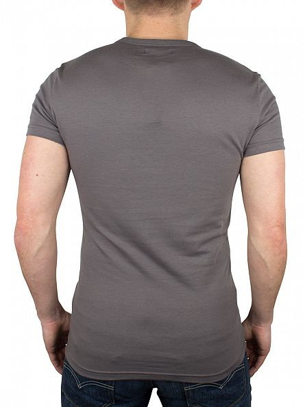 Emporio Armani Light Grey Centre Logo T-Shirt