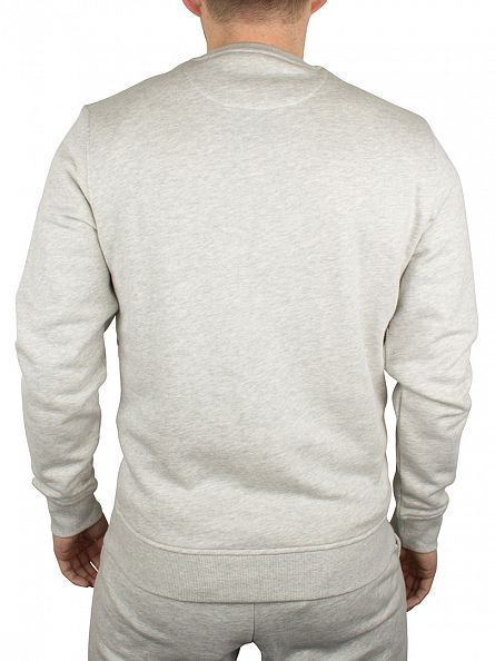 Lyle & Scott Light Grey Marl Marled Logo Sweatshirt