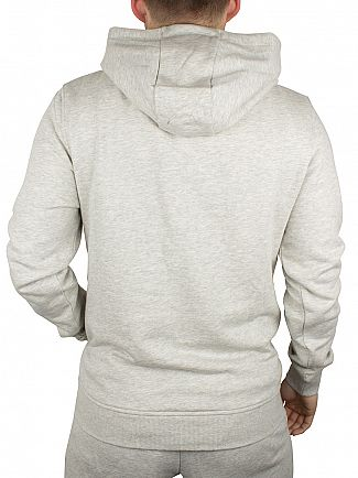 Lyle & Scott Light Grey Marl Pullover Logo Hoodie