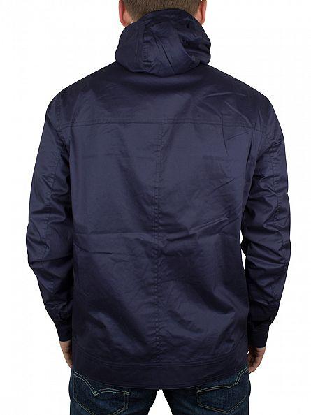 Farah Vintage Ink Blue Deighton HD Hooded Zip Jacket