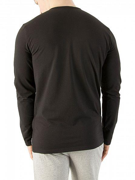 Calvin Klein Black Longsleeved Pyjama T-Shirt