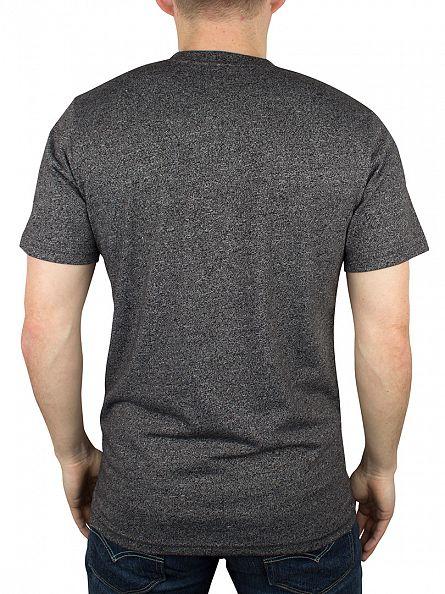 Carhartt WIP Black Noise Heather Logo Marled Pocket T-Shirt