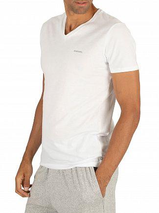 Diesel White 3 Pack Jake Plain Logo V-Neck T-Shirts