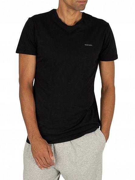 Diesel Black 3 Pack Jake Plain Logo T-Shirts
