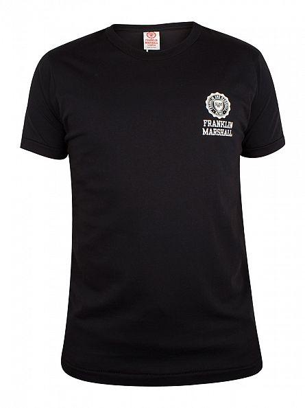 Franklin & Marshall Black Left Chest Logo T-Shirt