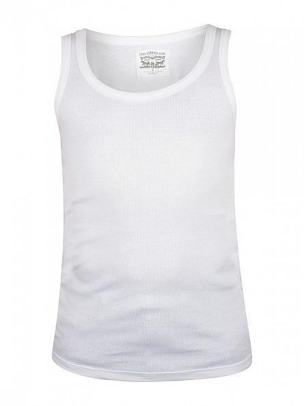 Levi's White 300 LS Cotton Rib Tank
