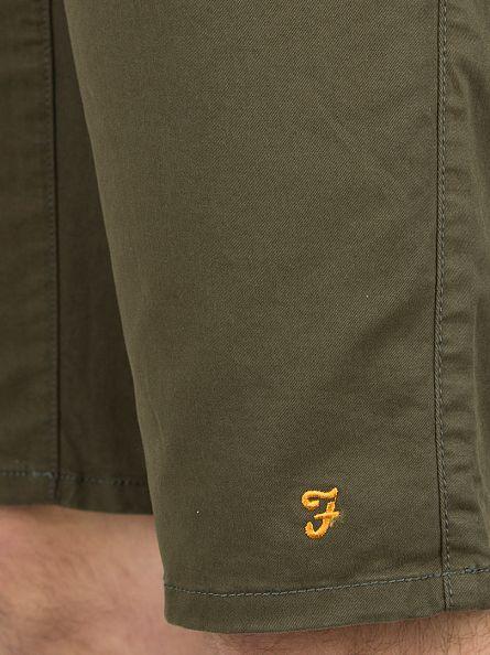 Farah Vintage Olive Hawking Logo Chino Shorts