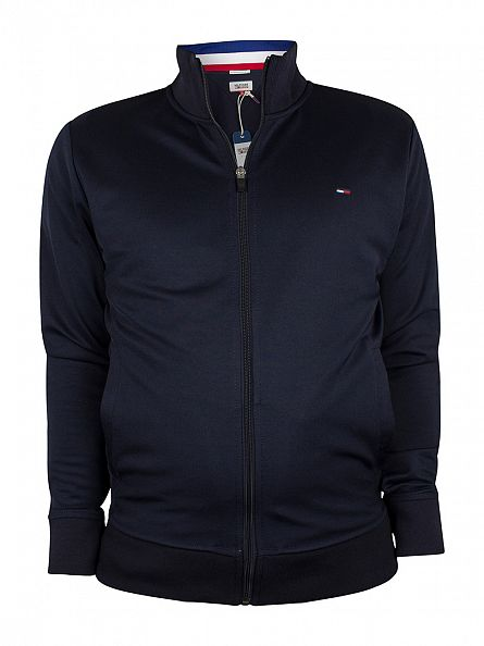 Hilfiger Denim Navy Blazer Plaited Logo Track Jacket