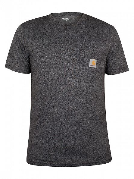 Carhartt WIP Black Noise Heather Logo Marled Pocket T-Shirt