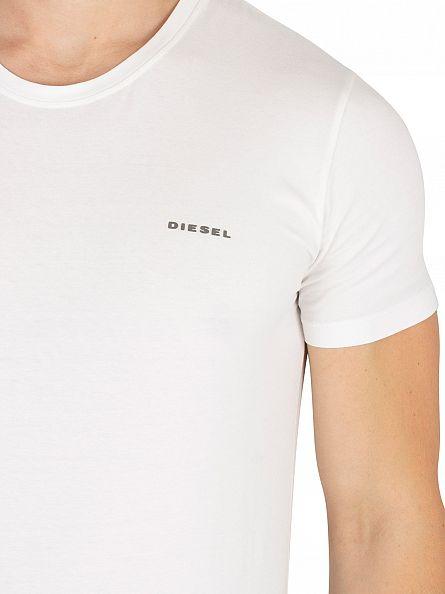 Diesel White Randal Plain Logo T-Shirt